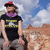Kathy at Delicate Arch, Arches National Park 2016