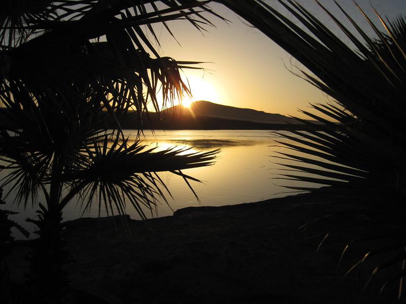 Sunset at San Quintin, Baja California.