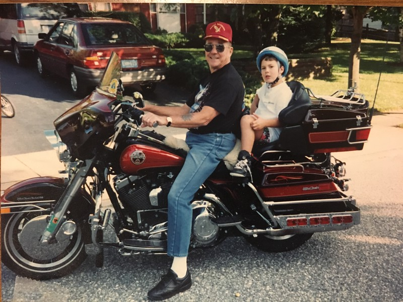 Pa and Jon in Toms River NJ Sept 93