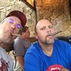 Me & Chris at Tomski's new baby cigar night.  Tulsa Tues Pub Crawl @ Crawpappys