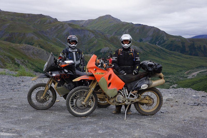 About as fas north as Joe and I got on the Dalton Highway.   The south side of Atigun Pass  July 2013.