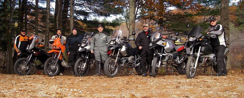 Fall ride in NH.  Me, Joe, Derek, Mark, Gary & LT.