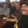 Chillin at the Heartland Brewery Manhattan Dec 2015 post IMS Bike Show