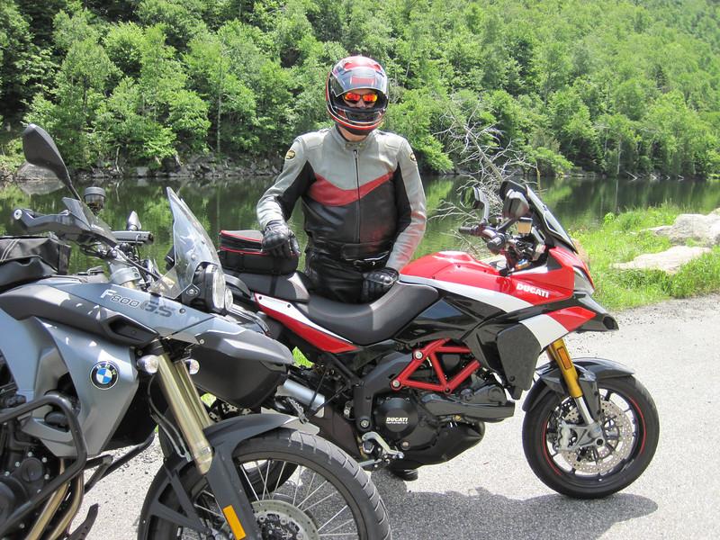 New Ducati!  Adirondacks.  June 2012