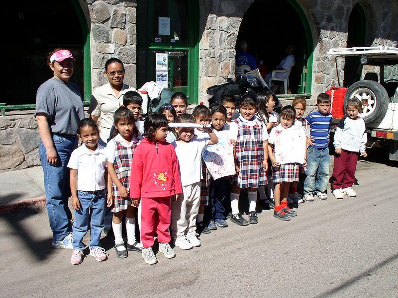 School kids in Mulege