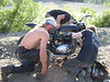 Fixing a bike- Locked up traini fixed