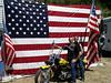 Flag and bike
