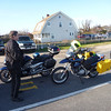 Chris (TheAxeman) waiting to board the ferry, and for BigOgre (Mike)