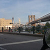 Brooklyn Bridge and the Freedom Tower.