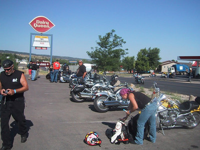 V-Rod gathering at the DQ.