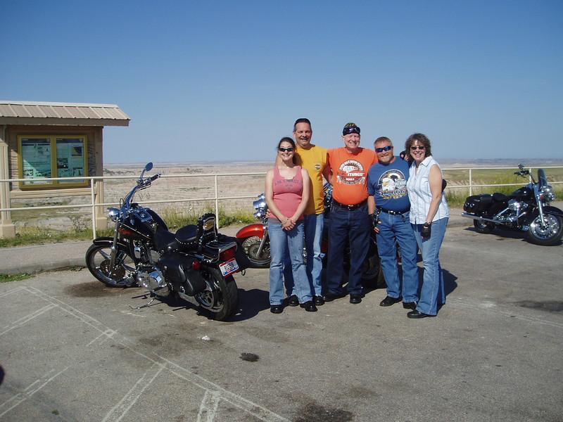 Sturgis Trip 2009--Robb, Amy, Dave, Brian & Sue in The Badlands