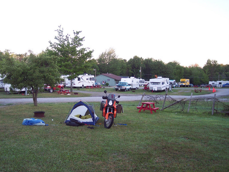 the first and worst campground @$20....yeah, you can put your tent over there.