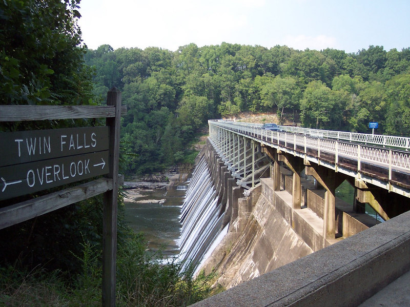 Twin Falls Overlook.  Another neat bridge/damn on coming off of the above gravel road.