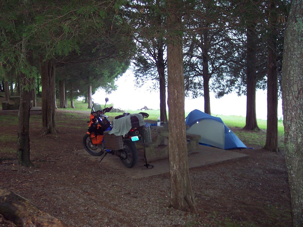 Campground #1 on trail.  Nice spot next to a small lake.  Only drawback were the 4 freight trains that went by during the night.....they were a mile or two away but still very loud.