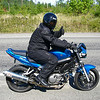 """Lew on """"Cool Blue"""", a very nice SV with a sweet exhaust note."""