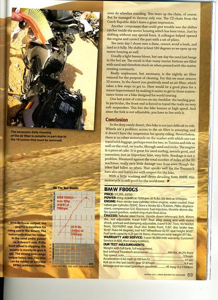 Summer 2010 BMW Motorcycle Magazine