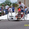 Competitor in the downhill derby.
