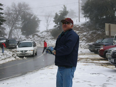 03/12/06 Hwy 9 at Hwy 35. Uncle Frank getting ready to fire.