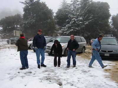 03/12/06 Hwy 9 at Hwy 35. Mojo, Frank, Karen, James and Mike O.