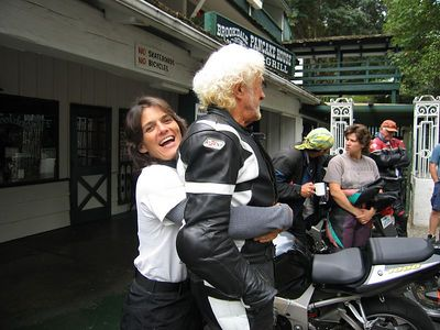Renee and Loc goofing off