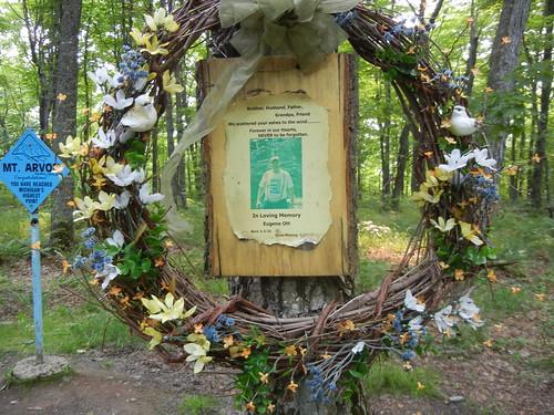 Eugene Ott memorial at Mt. Arvon