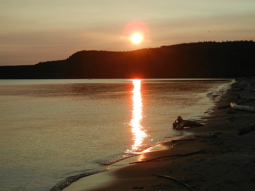 Sunset at Nyes Provincial Park