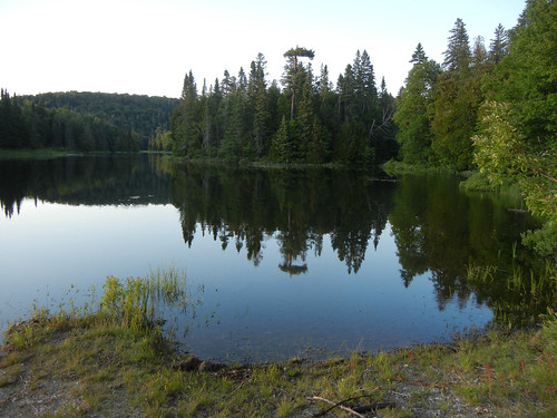 Crescent Lake Campground in Superior Provincial Park