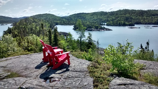 Pukaskwa Canadian National Park Red Chairs