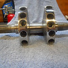 "The crank is back from Ben Fox at  -  <a href=""http://foxperformanceengines.com"">http://foxperformanceengines.com</a>  - you can see it took a fair amount of material removal to bring a V-twin balance to that of a single.  Today is the February 23rd, 2010 which almost seems like a birthday."