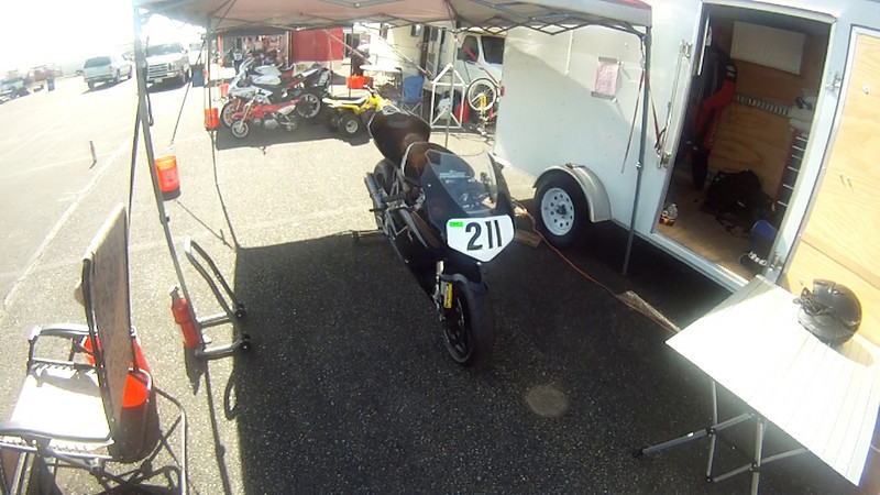 Willow Springs Raceway - a quick view of the pits 16 April 2011