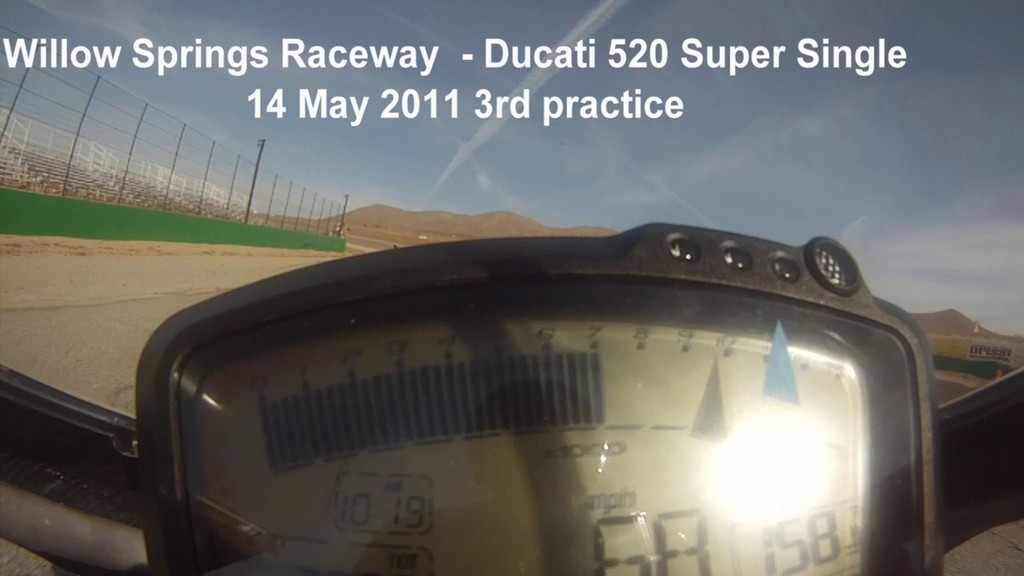 Willow Springs practice - this GoPro camera position is not great for video - audio is better here