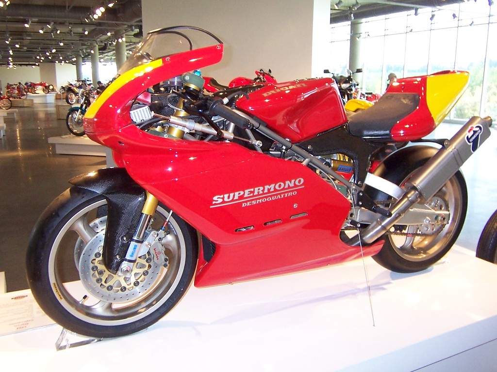 A picture of a real Ducati Supermono - they sell for $100,000 or more!