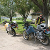 Bikes parked at the Bridgeport Reservoir not far outside Bridgeport, CA.