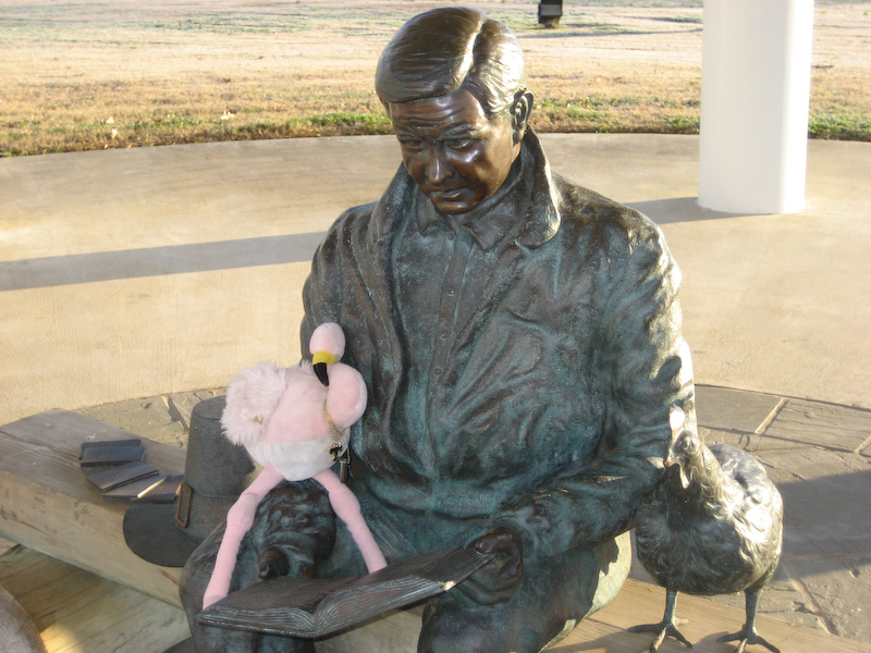 """But since Bo is no longer available, his statue will have to do. If I heard TJ correctly, he was saying, """"Let my people go!"""" or something like that."""