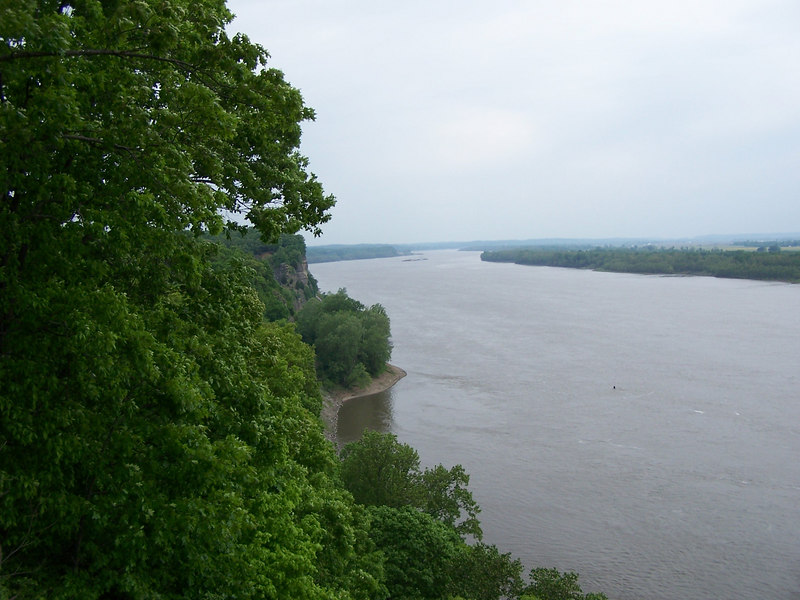 After crossing back into MO I took State Rd C South and made a quick detour to check out Trail of Tears State Park. There's a pretty nice view of the mighty Mississippi here.