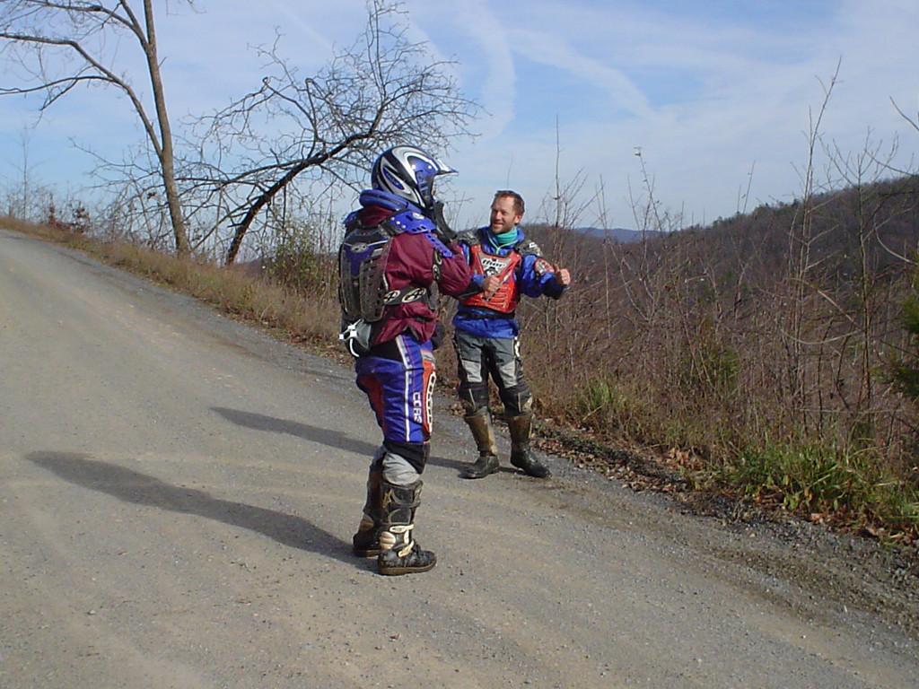 Will and Mark at Tasker's Gap