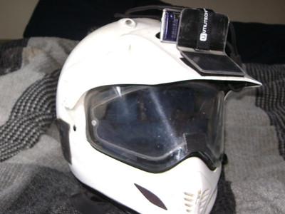 My older mount  Lexan helmet mount w/tether