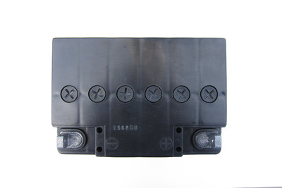 BMW Mareg Battery - Top  Base dimensions: 124 mm x 180 mm (128 mm x 184 mm at cover) Height: 175 mm