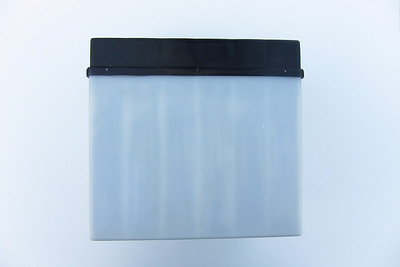 BMW Mareg Battery - Back  Base dimensions: 124 mm x 180 mm (128 mm x 184 mm at cover) Height: 175 mm