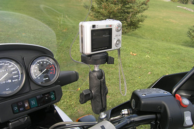 BMW R1150 GS Adventure RAM Ball & Manfrotto Camera Mount Install