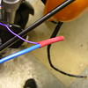 Used heat shrink on the +12V perm feed