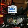 Zumo mounted to Dash shelf and powered up