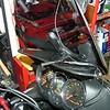 GTM12 mounted up left side of windshield on Vstrom/KLV1000