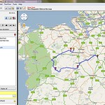 Create your route using the google map.