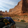Mr. Happy at Arches National Park early AM
