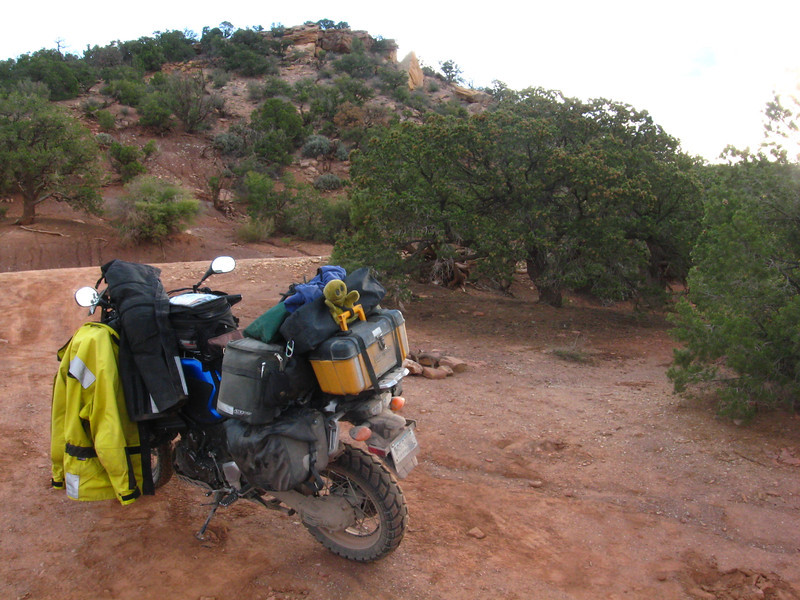 Bear's Ears Rd campsite (near Natural Bridges National Monument), packing up in morning