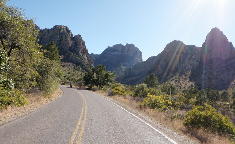 Heading up into Chisos Basin