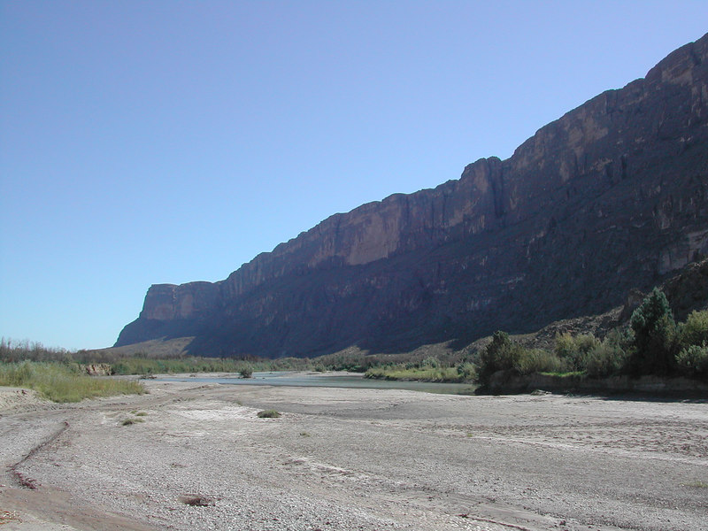 The walls of Santa Elena where Terlingua creeks meets the Rio Grnade