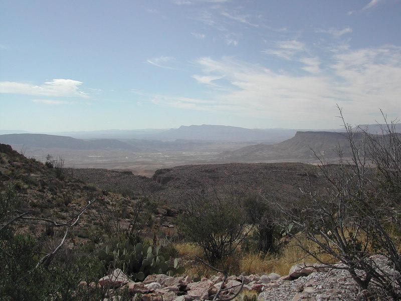 Looking across the valley with Lajitas far below