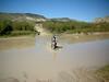 Sometimes Terlingua Creek is bone dry and silty, this time<br /> it had plenty of Rio Grande mud